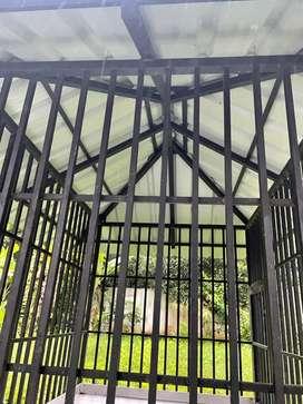 Full size dog cage