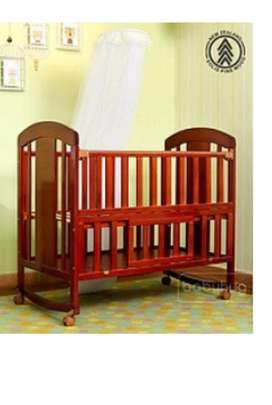 Babyhug florence cot with storage space cherry colour