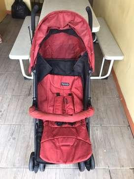 Stroller pliko red maroon