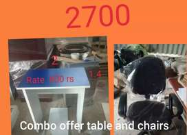 Combo offer table and chair brand new