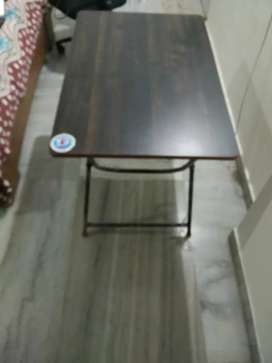 Foldable Wooden work/study Table - Brown Wood Finish