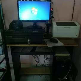 komputer kasir second kondisi normal jaya free training program kasir