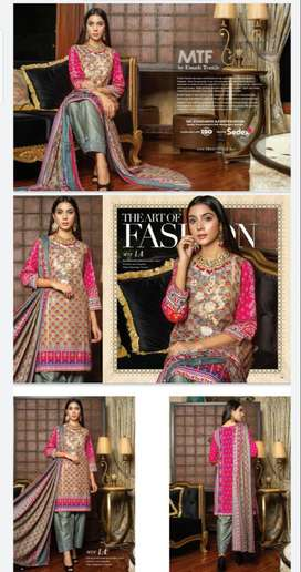 MTF  Printed Embroidered Chikenkari Cambric Collection