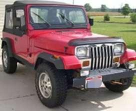 Modified wrangler jeep