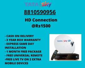 TATA SKY HD DTH CONNECTION @ RS1353