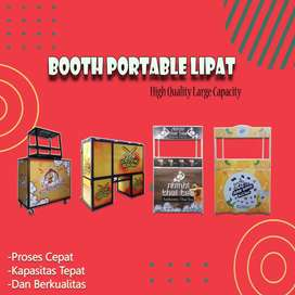 Booth Portable Lipat Request model dan Ukuran maupun design
