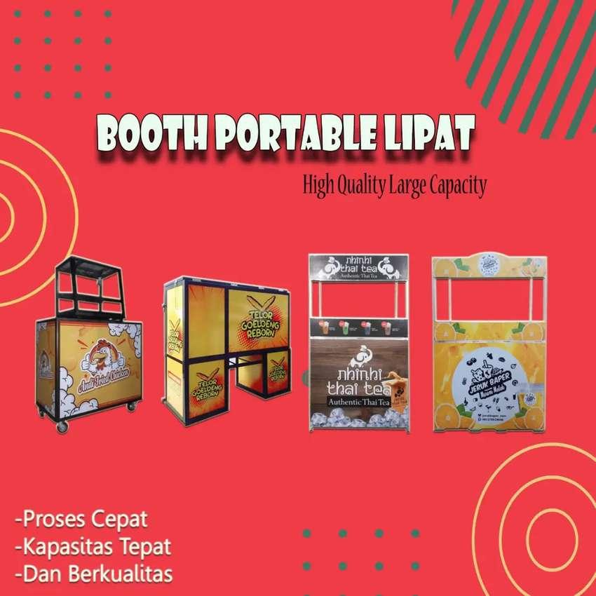 Booth Portable Lipat Request model dan Ukuran maupun design 0