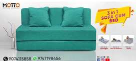 Sofa and bed and recliner ( 3 in 1 )