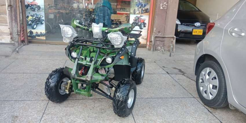 Military Color 125cc ATV QUAD For Sell Deliver in All Pakistan 0