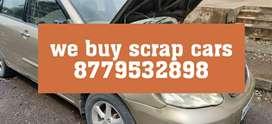 We buy old cars in scrap