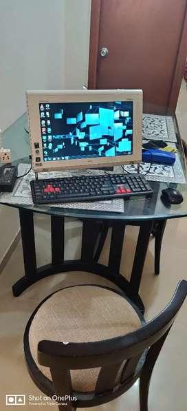 Desktop computer with inbuilt CPU
