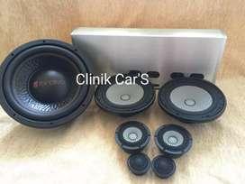 Paket audio super (speaker 3way-subwoofer-power)