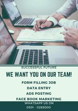 Apply with laptop home base work Data Entry online job at home