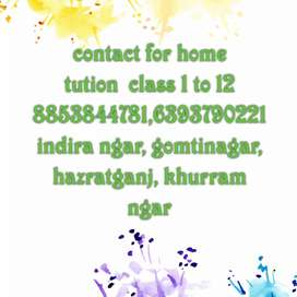 Contact for home tution