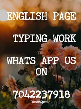 typing work available for home based job