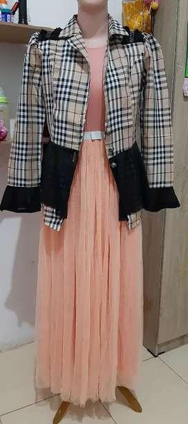 Dress tile lembut bagus banget baju kondangan baju pesta