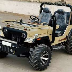 Modified hunter jeeps at Singla motor