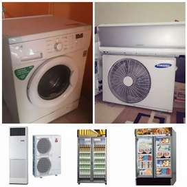 Service,AC,kulkas,mesin cuci, freezer