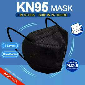 Masker kn95 5ply hitam
