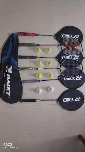 Yonex Batminton Rackets including Cocks