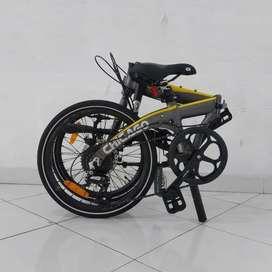 New Sepeda Lipat Dahon Ion Chicago 8Sp Grey Yellow 2021 BNIB terbatas