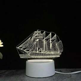 Lampu Tidur Hias LED 3D Acrylic