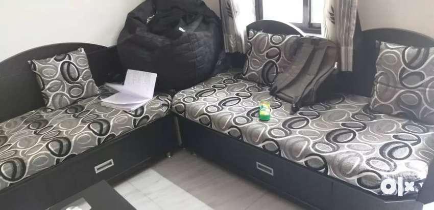 L shape sofa with full storage