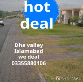 paid surcharge 8 Marla plot  sales in dha valley Islamabad open file