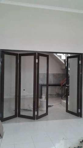 Pintu kaca dan Pintu lipat Alluminium