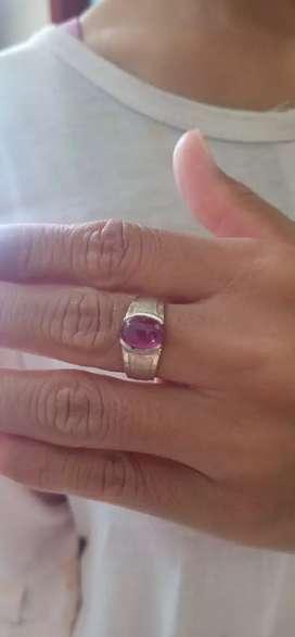 cincin ruby emban perak