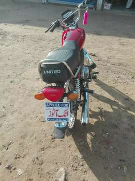 united 2017 regestar 2019 A1 condition  new bike35000 full and final