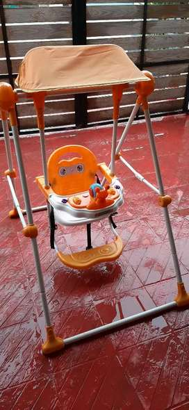 Baby Swing with safety belt & front bar