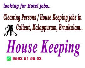 Cleaning Persons / House Keeping Jobs