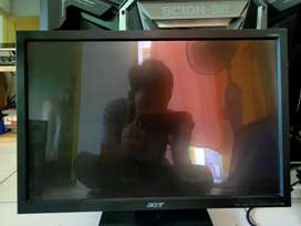 Lcd led monitor acer 19 inch builtup