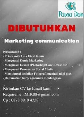 Dibuka Loker Marketing Communication
