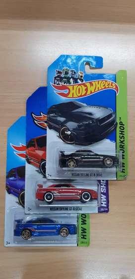 Set Hot Wheels Nissan Skyline R34