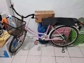 Sepeda siap belanja dan boncengan jalan-jalan