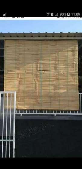 Tirai bambu,tirai rotan,kayu motif