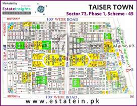 Taiser town sector 73 240 yard plot full paid with allotment