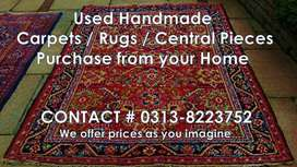 Used & New Hand made Carpet / Rugs / Central piece purchase from home