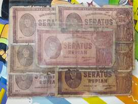 Uang Kuno 100 Sukarno tahun 1947