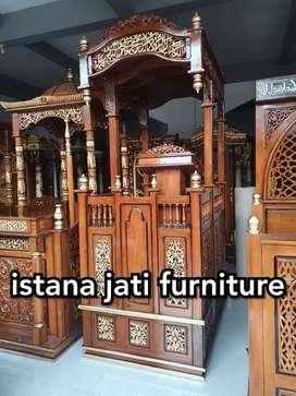 Jual mimbar masjid kubah elegan minimalis ( jati solid )