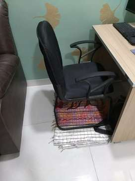 Black Office chair with foam and steel body