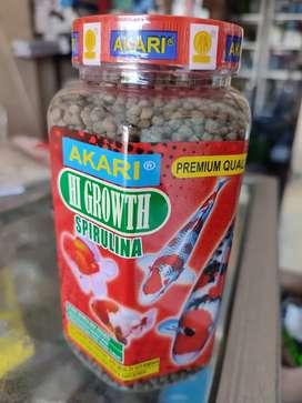 Pelet ikan Akari Hi growth spirulina