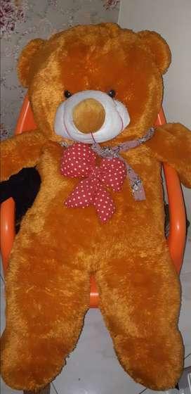 Boneka teddy bear besar orange