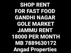 Rent shop fast food gole market gandhi nagar