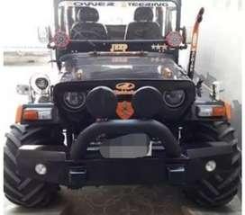 Modified orange and black jeep