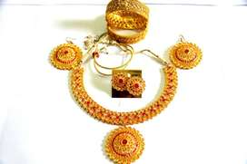 BRANDED NECKLACE SET AND BANGLES WITH 5 YEARS WARRANTY - SIA JEWELLERY