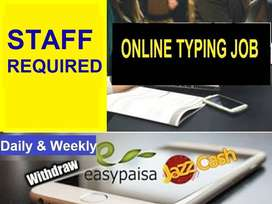 home based  TYPING   jobs are offering