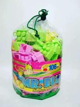 Mainan blok lego isi 106 pcs
